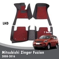 car floor mats for mitsubishi zinger fuzion 2016 2015 2014 2013 2012 2011 2010 2009 2008 7 seater carpets double layer wire loop