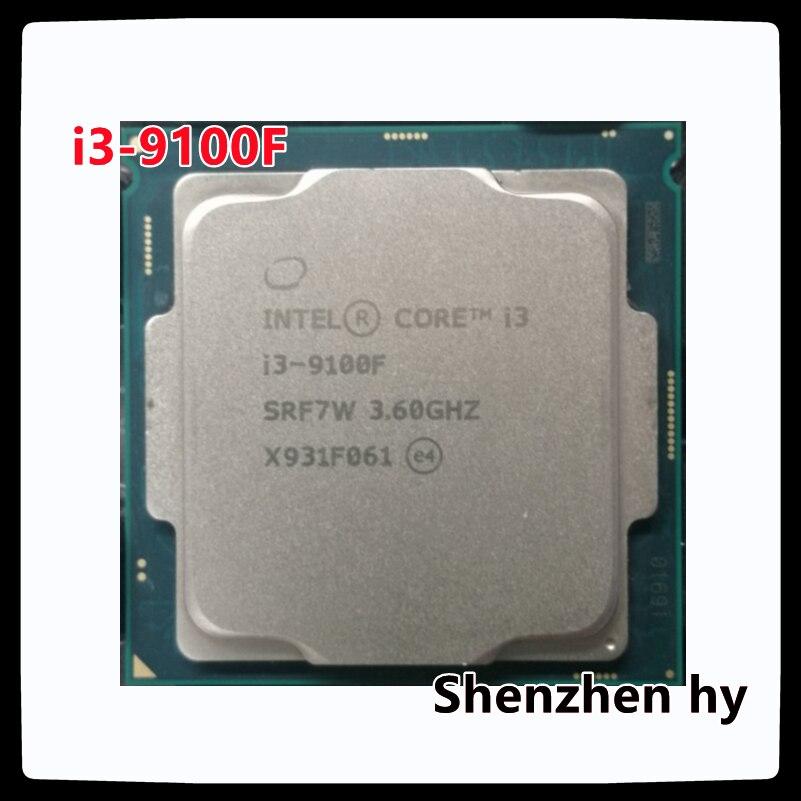 إنتل كور i3-9100F i3 9100F 3.6 GHz رباعية النواة رباعية النواة وحدة المعالجة المركزية 65 واط 6 متر معالج 1151
