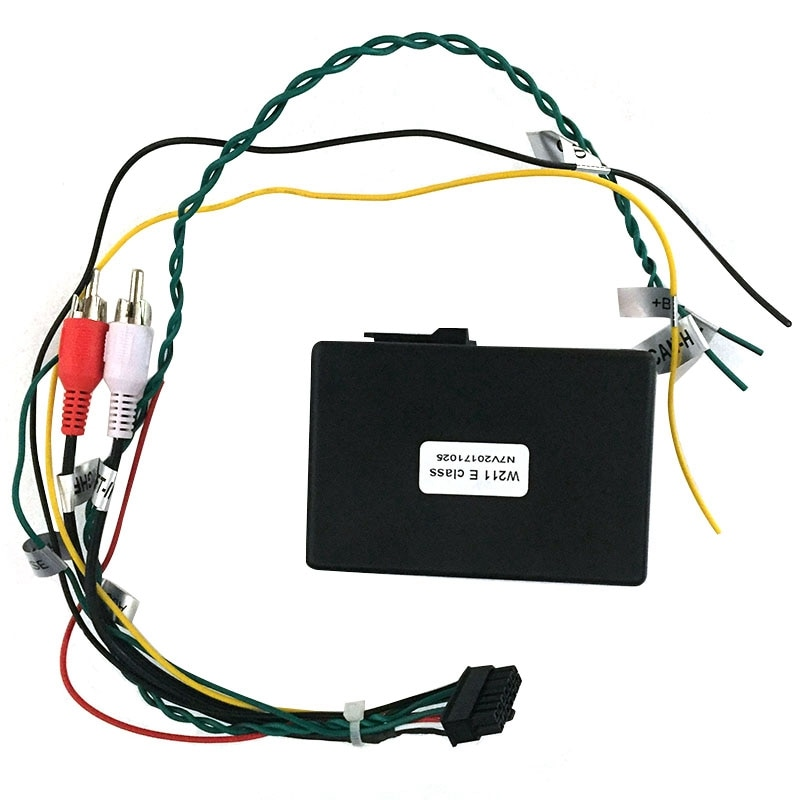 for Mercedes Benz E-Class W211 E200 E220 E230 AUX Car Optical Fiber Decoder Box Amplifier Adapter 20