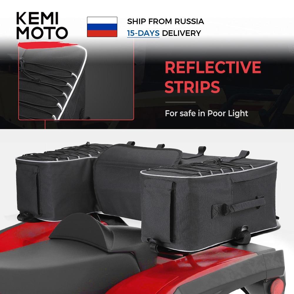 Black Rear Rack Bag Package Support Storage Pack Back ATV For Yamaha Big Bear 400 for Polaris 300 fo