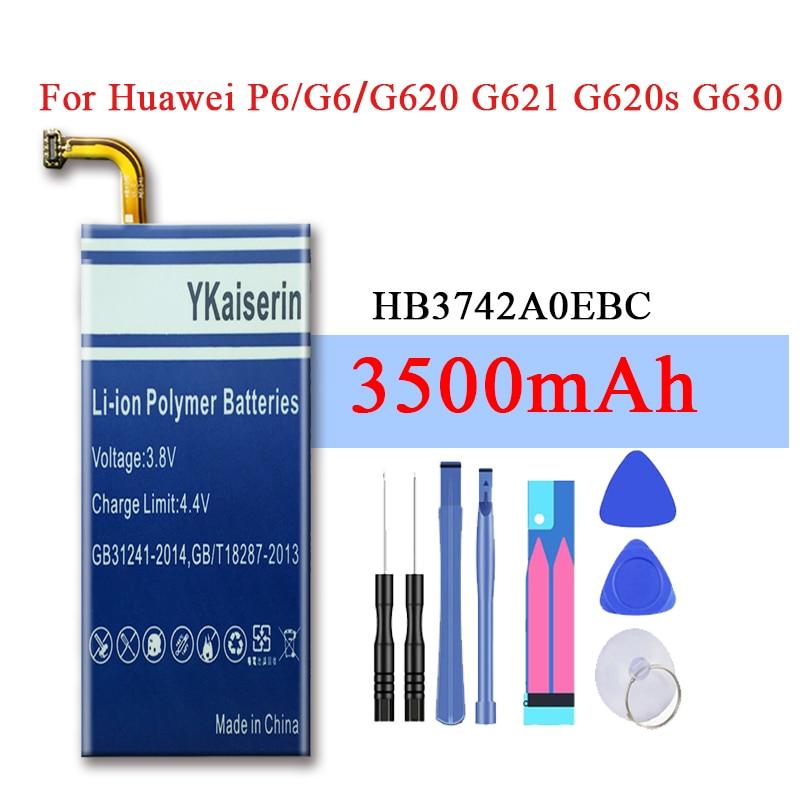 Аккумулятор для телефона HB3742A0EBC 2050 мАч для Huawei Ascend P6 P6-U06 P6-c00/Ascend G6 G620 G621 G620s G630 Batteria + Track NO