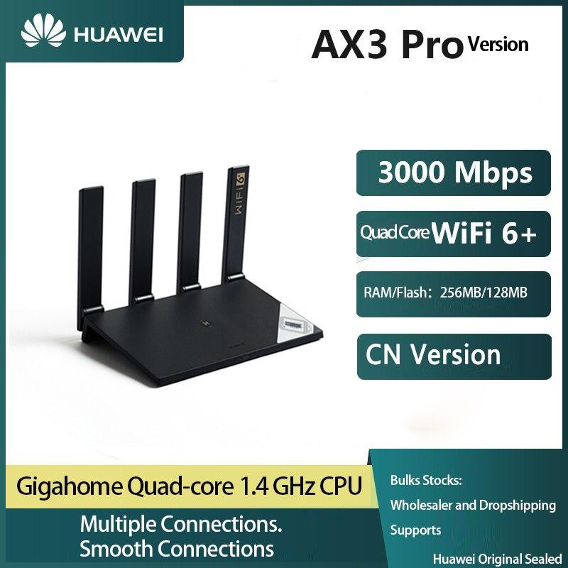 هواوي AX3 برو راوتر واي فاي 6 + 3000 ميجابايت لكل ثانية رباعية النواة واي فاي المنزل الذكي شبكة لاسلكية راوتر رباعية مكبرات الصوت مكرر شبكة راوتر