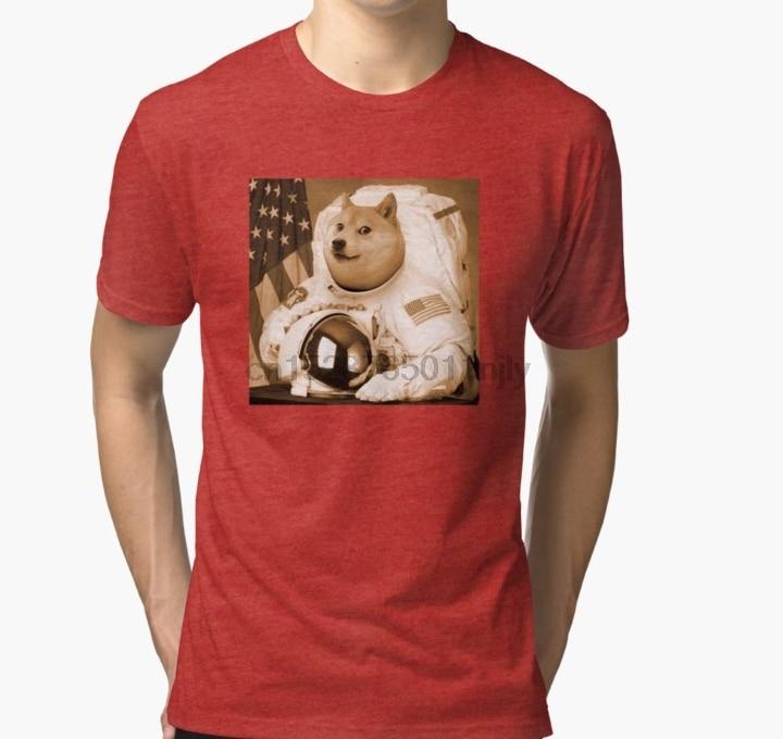 Camiseta para hombre Doge Coin EME Shiba INU perro pegatina T Shirt taza almohada camiseta impresa camiseta camisetas
