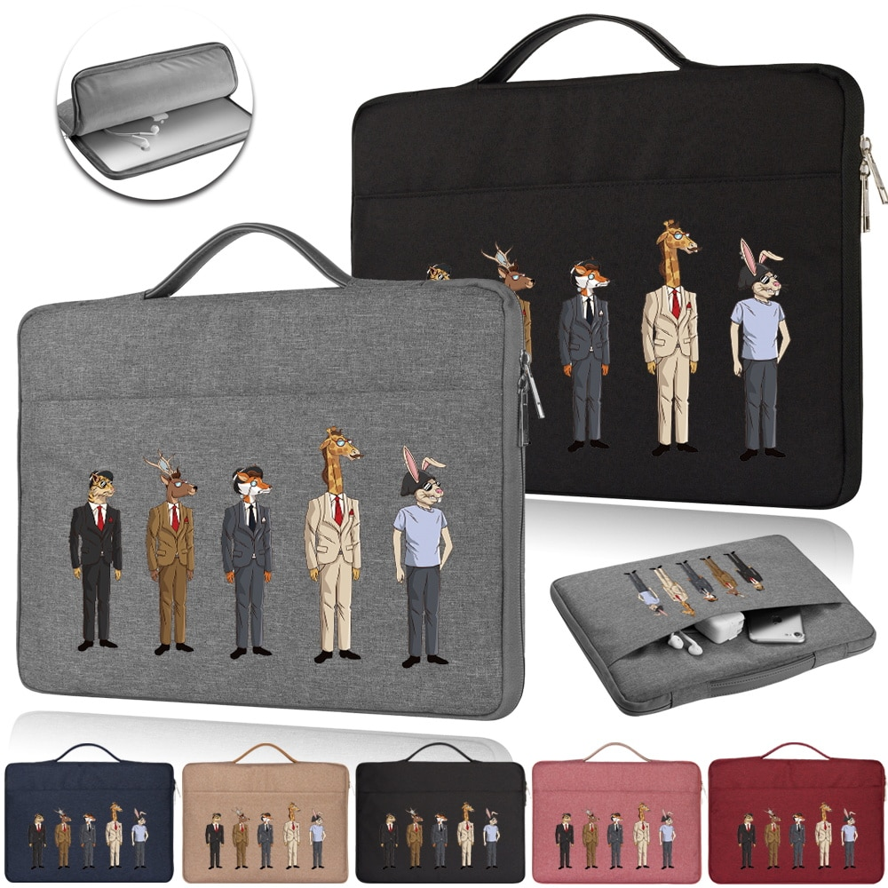 """case For Microsoft Surface 10.5 12.3/Pro X 13/Laptop 2 3 13/3 15"""" Laptop Travel Bag with Tie Rod Strap Briefcase Shoulder Bags"""