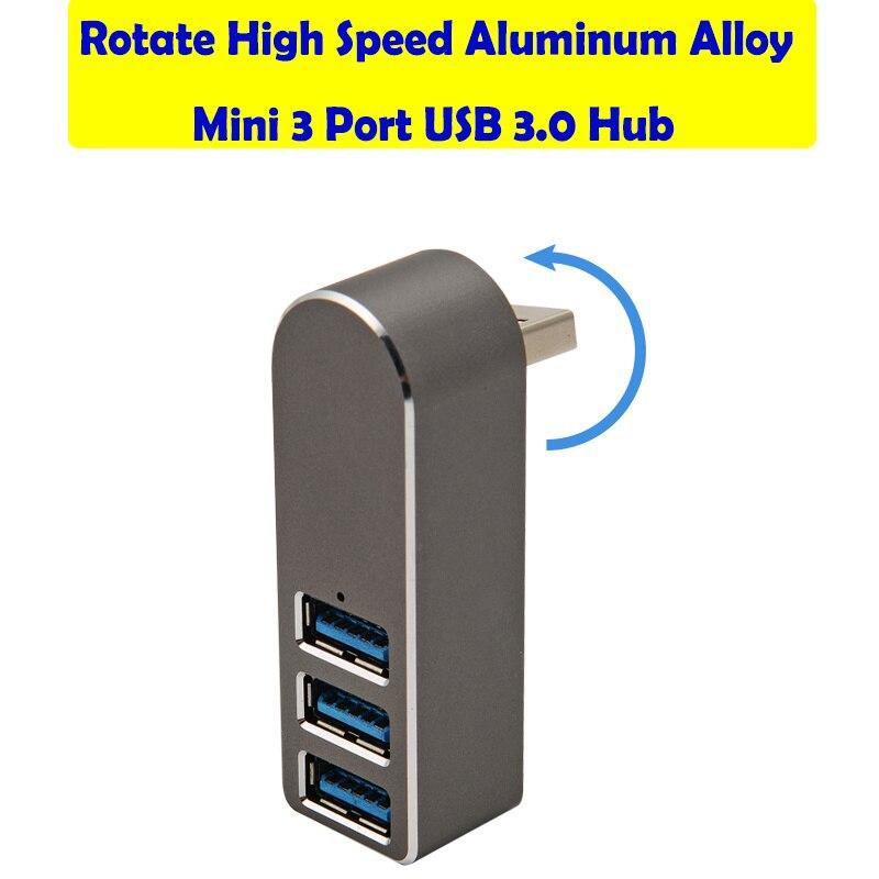 Высокоскоростной мини-адаптер из алюминиевого сплава с 3 портами USB 3,0 для ПК-ноутбука с 3 портами usb-хаб