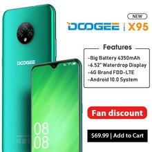 "DOOGEE X95 Android 10 OS 4G-LTE cep telefonları 6.52 ""ekran MTK6737 dört çekirdekli 16GB ROM çift SIM 13MP üçlü kamera 4350mAh pil"