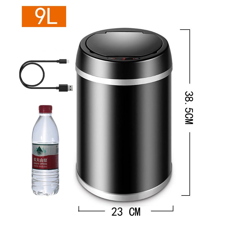 Automatic Dustbin Trash Cans For Home Office Stainless Sensor  Kitchen Garbage Waste Bins 9L Large Capacity
