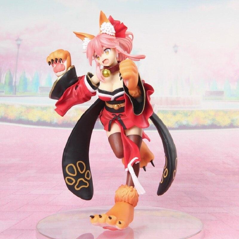 Fate Grand Order Caster Tamamo Geen Mae Kat Meisje Standbeeld Pvc Actiefiguren Speelgoed Anime Figuur Speelgoed Voor Kids Kinderen kerstcadeau