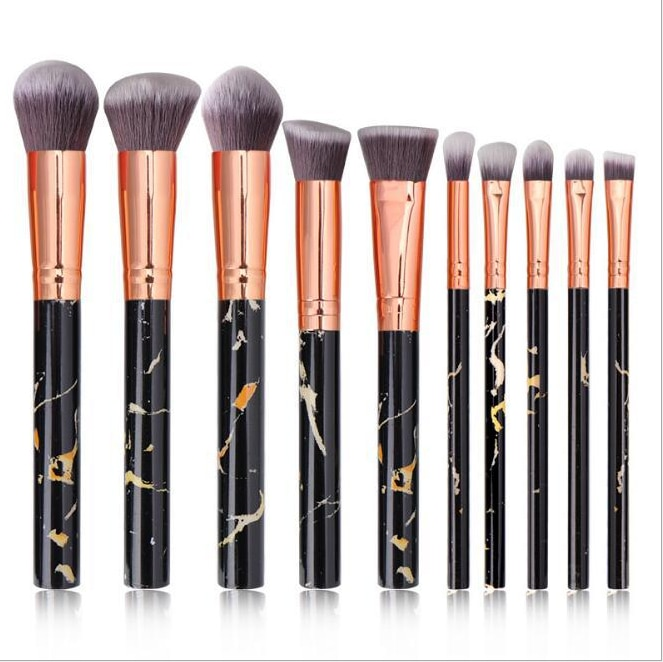 10Pcs professional makeup brush tool set makeup powder eye shadow foundation liquid blush mixed beauty makeup brush Maquiagem