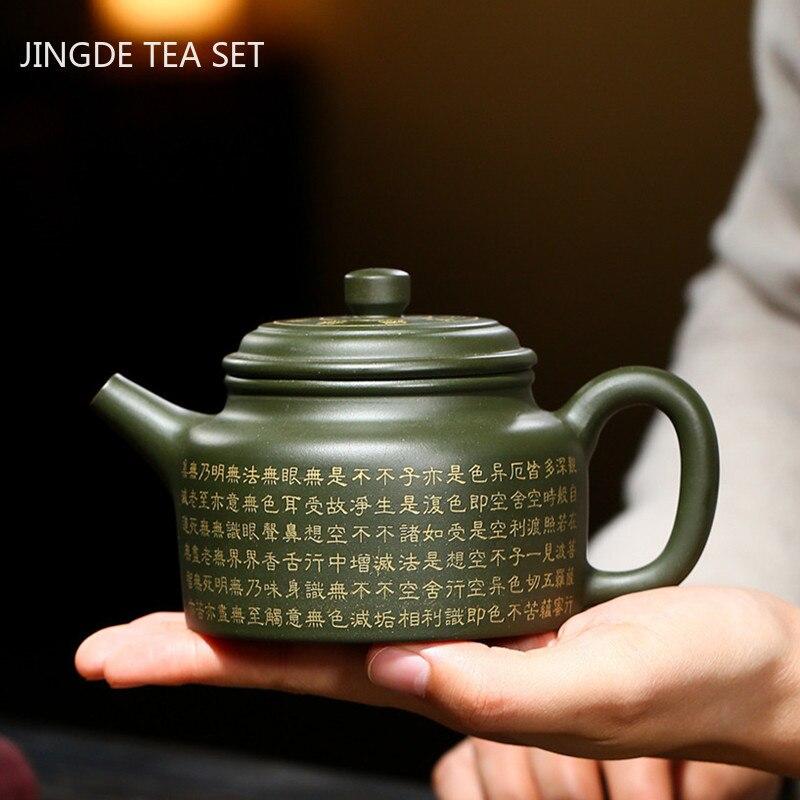 Yixing أواني الشاي اليدوية الأرجواني الطين إبريق الشاي الجمال غلاية الخام خام خام الطين teبينة التعادل قوانيين حفل الشاي الصيني هدية 290 مللي