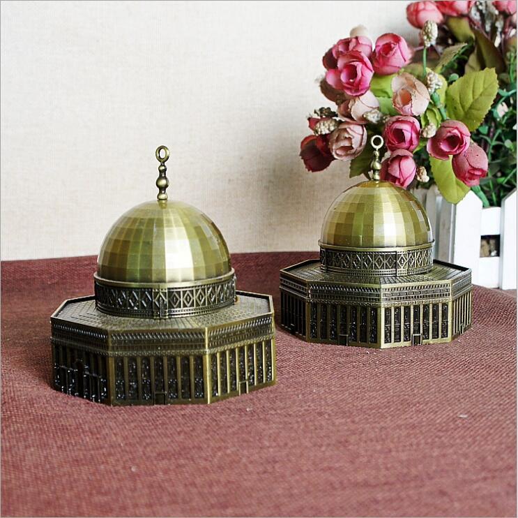 2018 New Israel Jerusalem Dome Mosque Bronze Figurine Souvenirs Gift Famous Architectural Statue Home Decoration Crafts