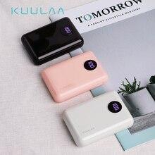 KUULAA Power Bank 10000mAh Tragbare Schnelle Aufladen Power 10000 Dual USB Mini Externe Batterie Ladegerät Für Xiaomi Mi PoverBank