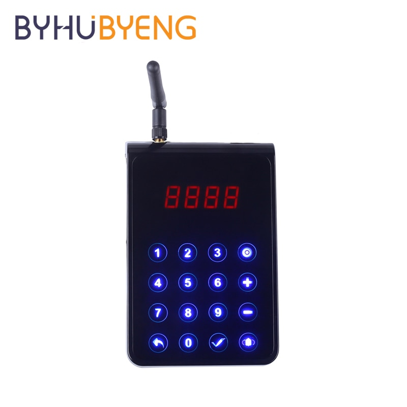 BYHUBYENG Wireless Pager System Touch Keypad Transmitter Waterproof Call Button Equipment For Restaurant Bank Hotel