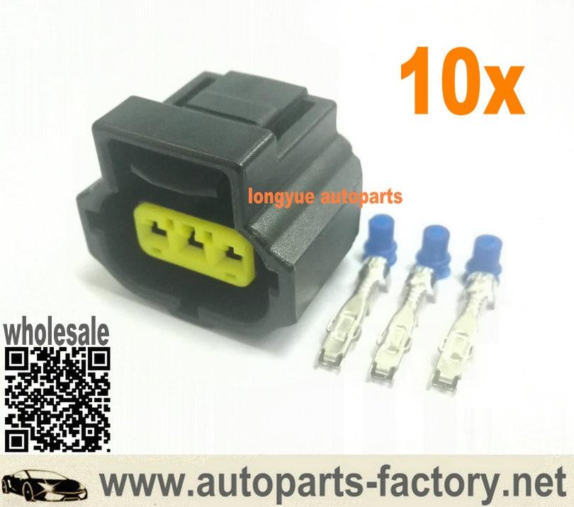 Longyue 10kit 3pin alternador enchufe impermeable eléctrico automotriz conector 184032-1 para Tyco/Amp