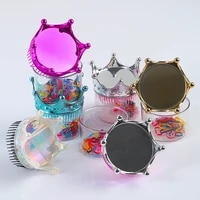 hair comb princess crown massage comb shiny styling comb children anti static haircut salon hairdressing styling tool