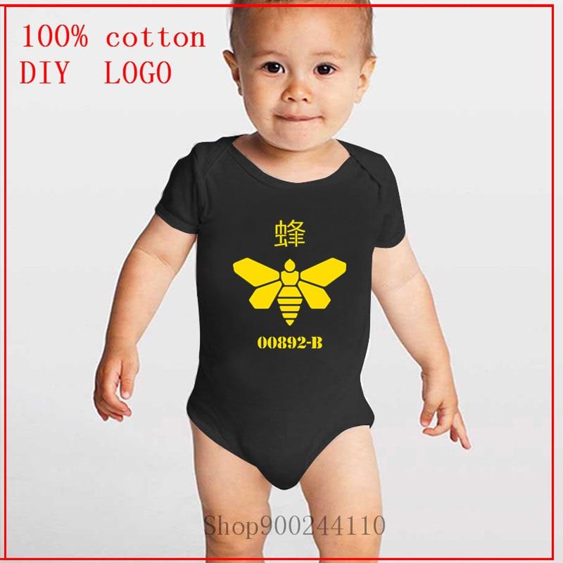 Body de breaking bad bees 00892-B de breakingescher, ropa de bebé, traje de bebé para verano, mono de bebé Unisex de manga corta