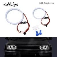 4pcs white drl led angel eyes halo rings cotton lights for volkswagen vw golf 4 5 1998 2009 daytime running lamp car accessories