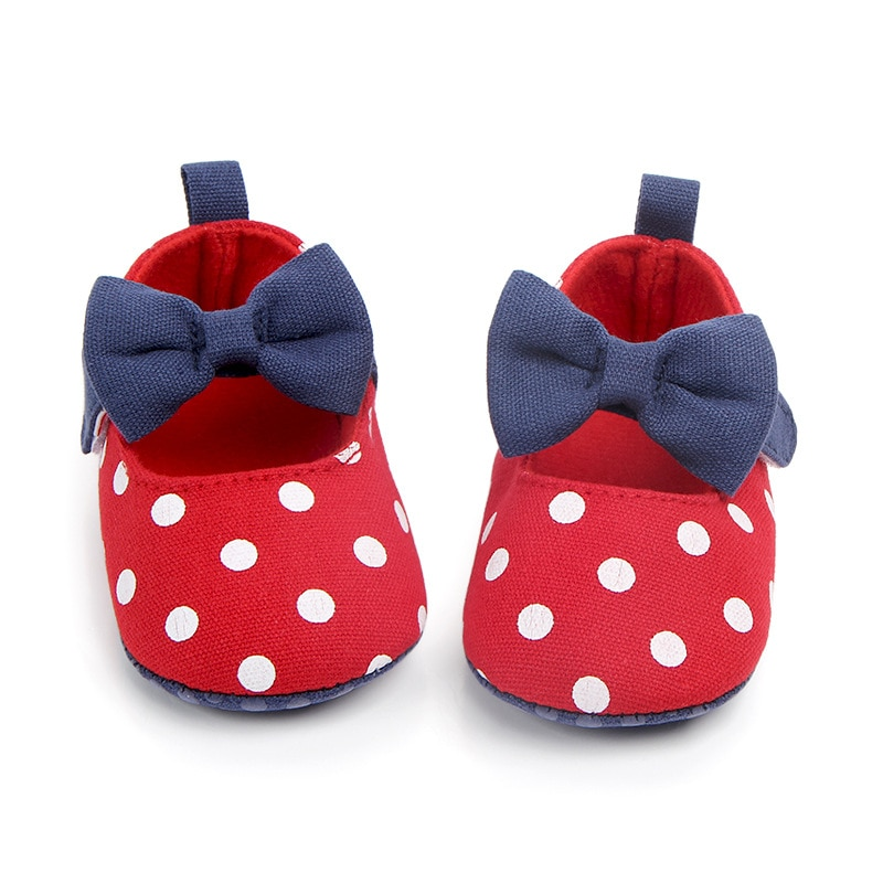 sweet pu baby girl shoes toddler infant anti slip polka dot pu first walkers shoes kids footwear shoes girls Baby Girl Shoes Toddler Infant Anti-slip Polka Dot Bow First Walkers Shoes Kids Footwear Shoes Girls0-18M