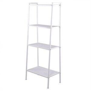Durable Widen 4 Tiers Bookshelf Ivory White Detor widened Household Four-story Bookshelf American