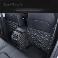 for great wall haval h6 2020 2021 accessories pu leather car seat anti kick mat rear row seats cover back protection mats 3pcs