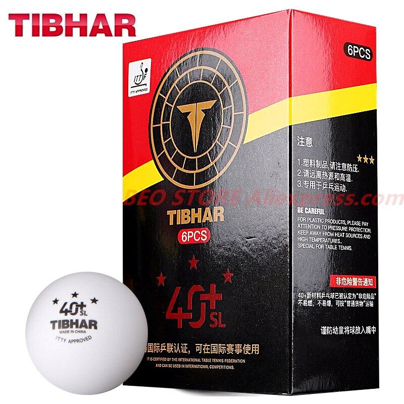 Мячи TIBHAR для настольного тенниса, бесшовные мячи из АБС-пластика, 3 звезды, 40 +, оригинальные мячи для пинг-понга TIBHAR