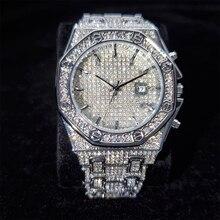 Hip hop MISSFOX Men's Wrist Watch Quartz Silver Color Clock Luxury Top Brand Waterproof Arabic Numbe