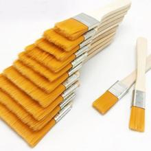 12 pièces/ensemble pinceau à huile en Nylon avec poignées en bois réutilisable Barbecue Barbecue en Nylon Gouache peinture à lhuile cadeau pour enfants outil à la maison