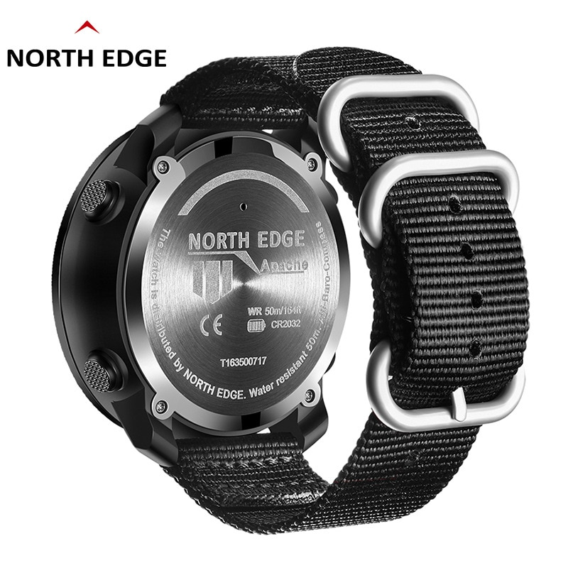Outdoor sports watch waterproof intelligence high pressure compass thermometer multi-function hiking swimming wrist watch enlarge