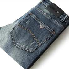 New Autumn Men's Jeans Slim Elastic Italy Eagle Brand Fashion Business Trousers Classic Style Winter
