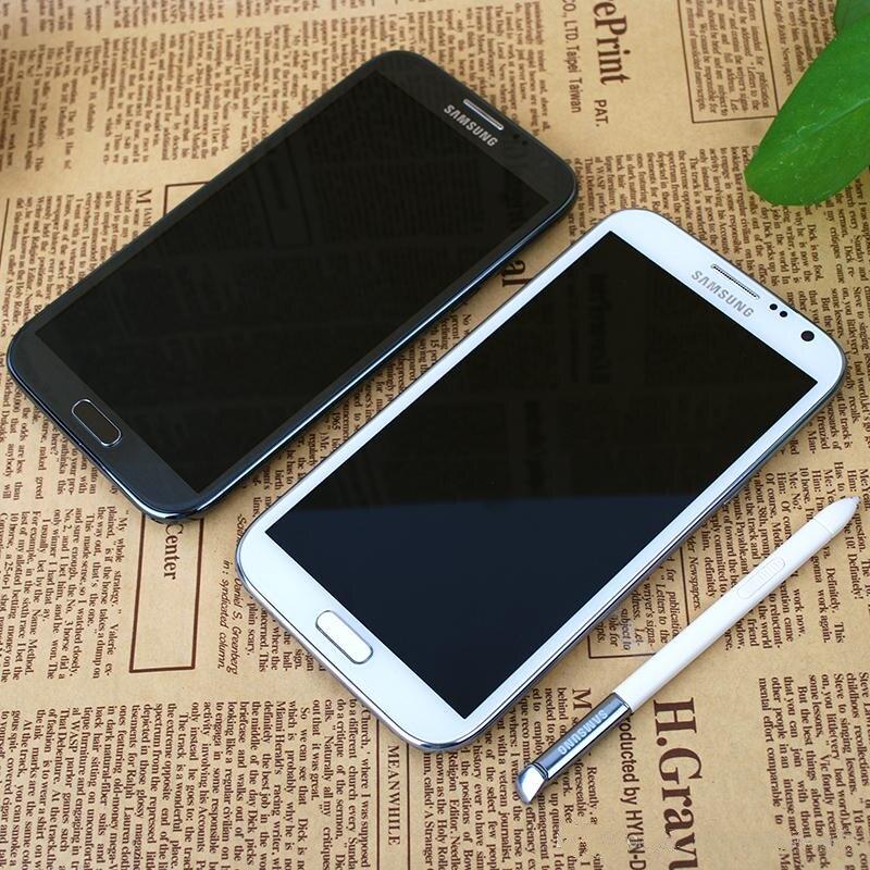 Samsung Galaxy Note II N7100 Unlocked Mobile Phone 2GB RAM 16GB ROM Quad Core 5.5'' 8MP 3G WCDMA Original Android Smartphone