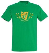Camiseta Erin Go Bragh Irisch Banner bandera de Irlanda arpa Irish Irland Harfe Casual imprimir camiseta de moda