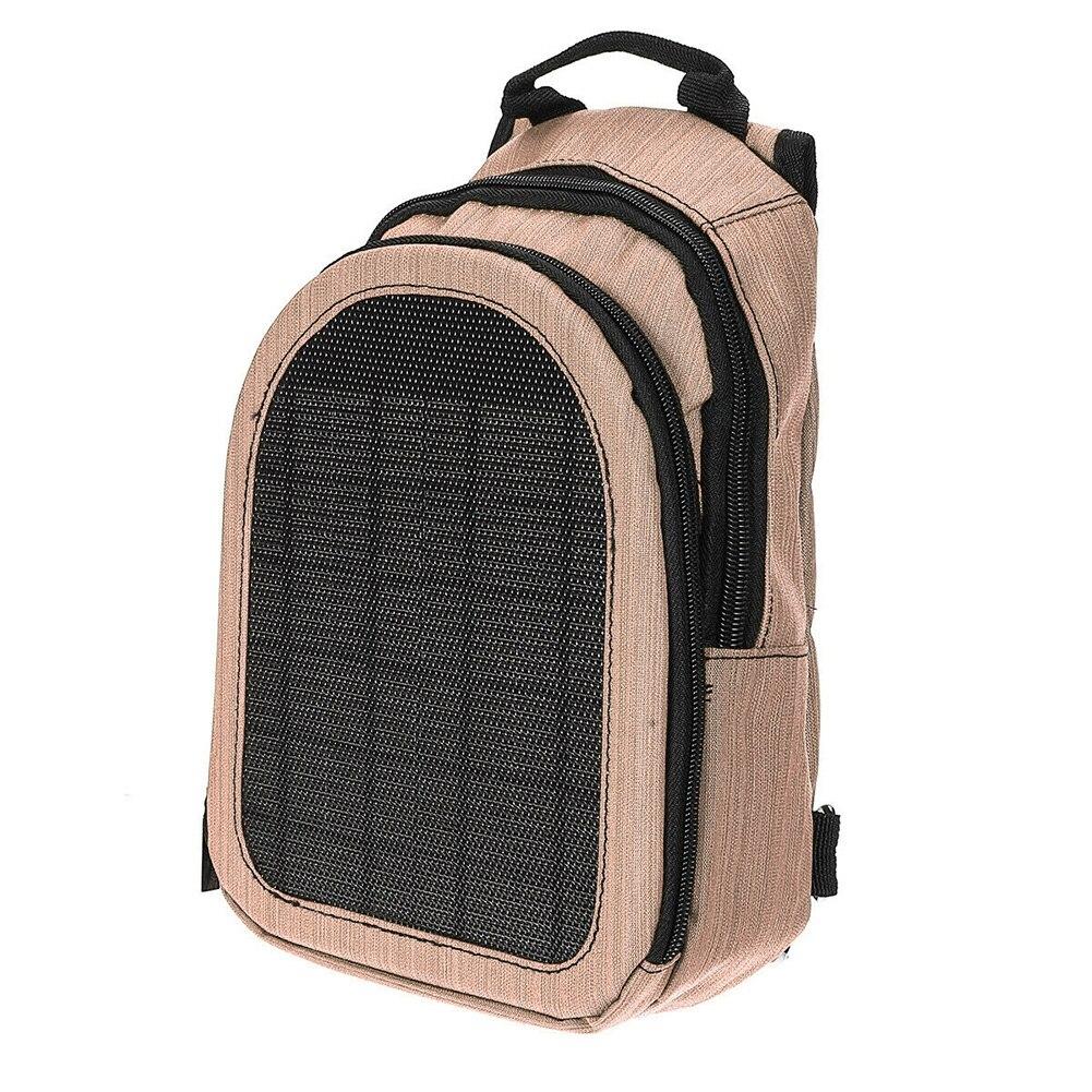 5V hombres mujeres mochila exterior impermeable Oxford tela USB de carga corriendo ciclismo senderismo bolsa solar para portátil Camping cremallera viaje