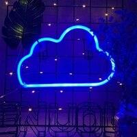 USB LED Neon Bleu Nuage Dart Signes Lumieres Pour des Murs de Chambre A Coucher Veilleuses Decor A La Maison Decor de Fete Fournitures Neon