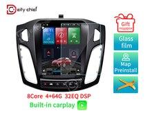 Autoradio pour Ford Focus 3 Mk 3 Tesla écran Tesla style 2011 ~ 2019 autoradio multimédia lecteur vidéo Navigation GPS Android