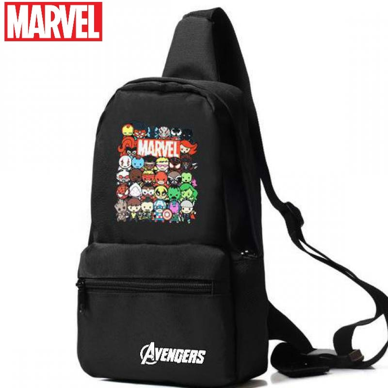 Original Disney Marvel Revenge Avengers Surrounding Middle School Students Chest Bag Boys Shoulder Messenger Bag