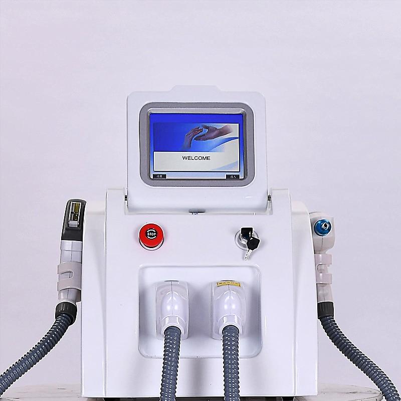 2 في 1 متعددة الوظائف الليزر إزالة الشعر بالليزر إزالة الوشم الحاجب غسل كحل إزالة تبييض ماكينة تجديد البشرة