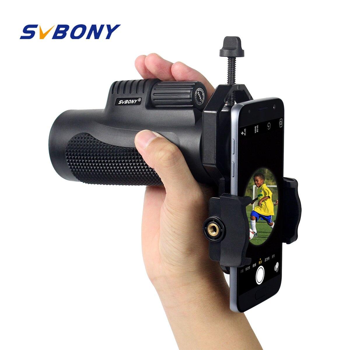 SVBONY 10x42 Monoculares a prueba de agua BK7 Enfoque para Viaje y Camping Monoculares ópticos para senderismo al aire libre F9116AD