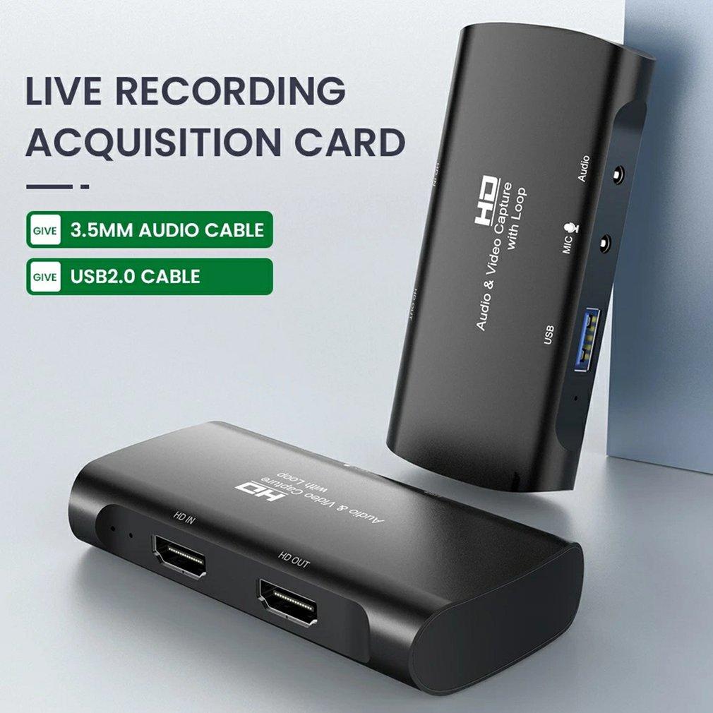 مسجل فيديو المنتزع التقاط لعبة لايف HD 1080P 4K فيديو بطاقة التقاط الصوت والفيديو HDMI متوافق مع USB 2.0 لعبة فيديو تسجيل