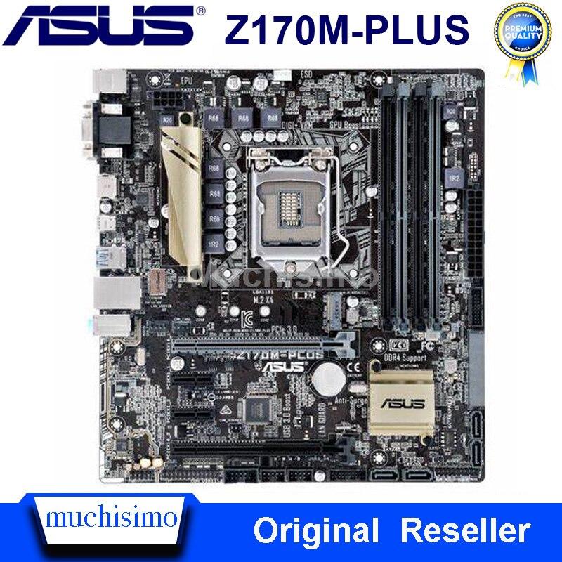 Asus Z170M-PLUS اللوحة LGA 1151 DDR4 64 جيجابايت إنتل Z170 Cpu i3 i5 i7 DDR4 الأصلي سطح المكتب Asus Z170M-PLUS اللوحة الرئيسية المستخدمة