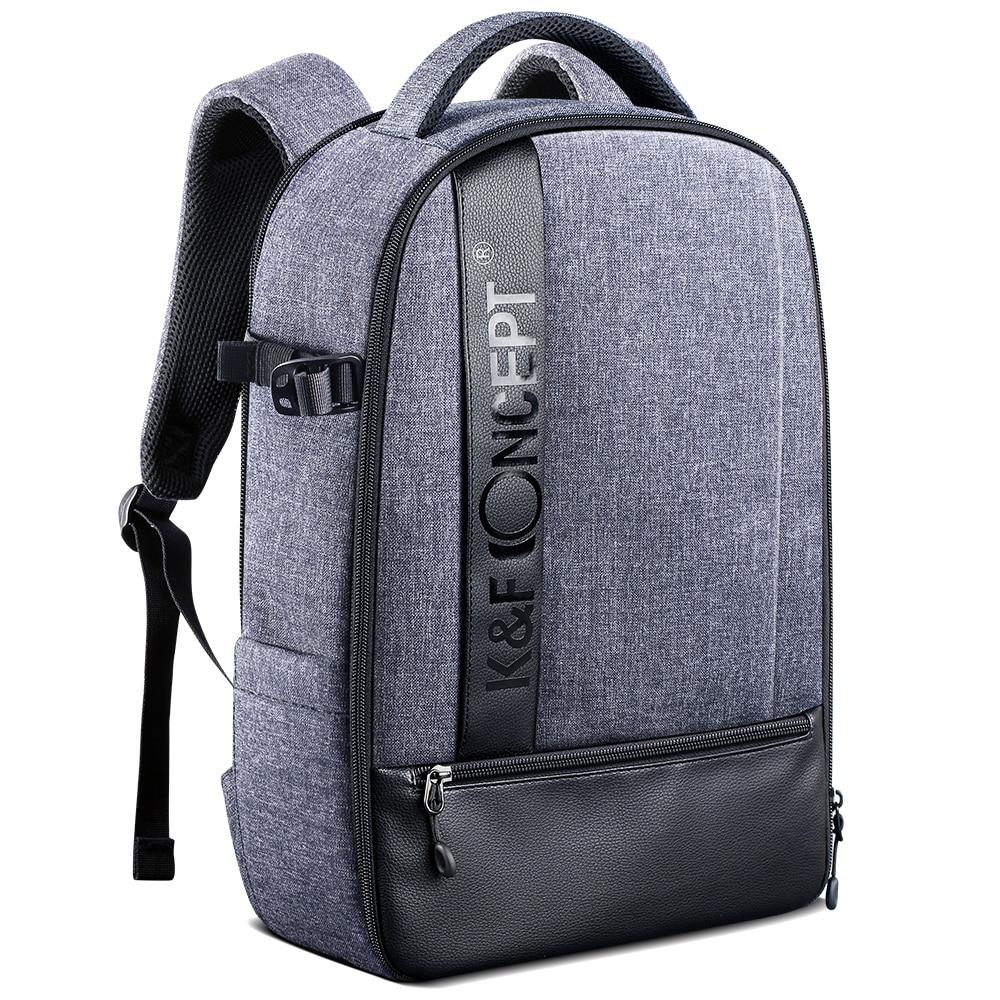 K & F Concept-حقيبة ظهر للكاميرا الاحترافية ، حقيبة تصوير مقاومة للماء ذات سعة كبيرة لكاميرات DSLR ، كمبيوتر محمول مقاس 15 بوصة ، حامل ثلاثي القوائم ، ...