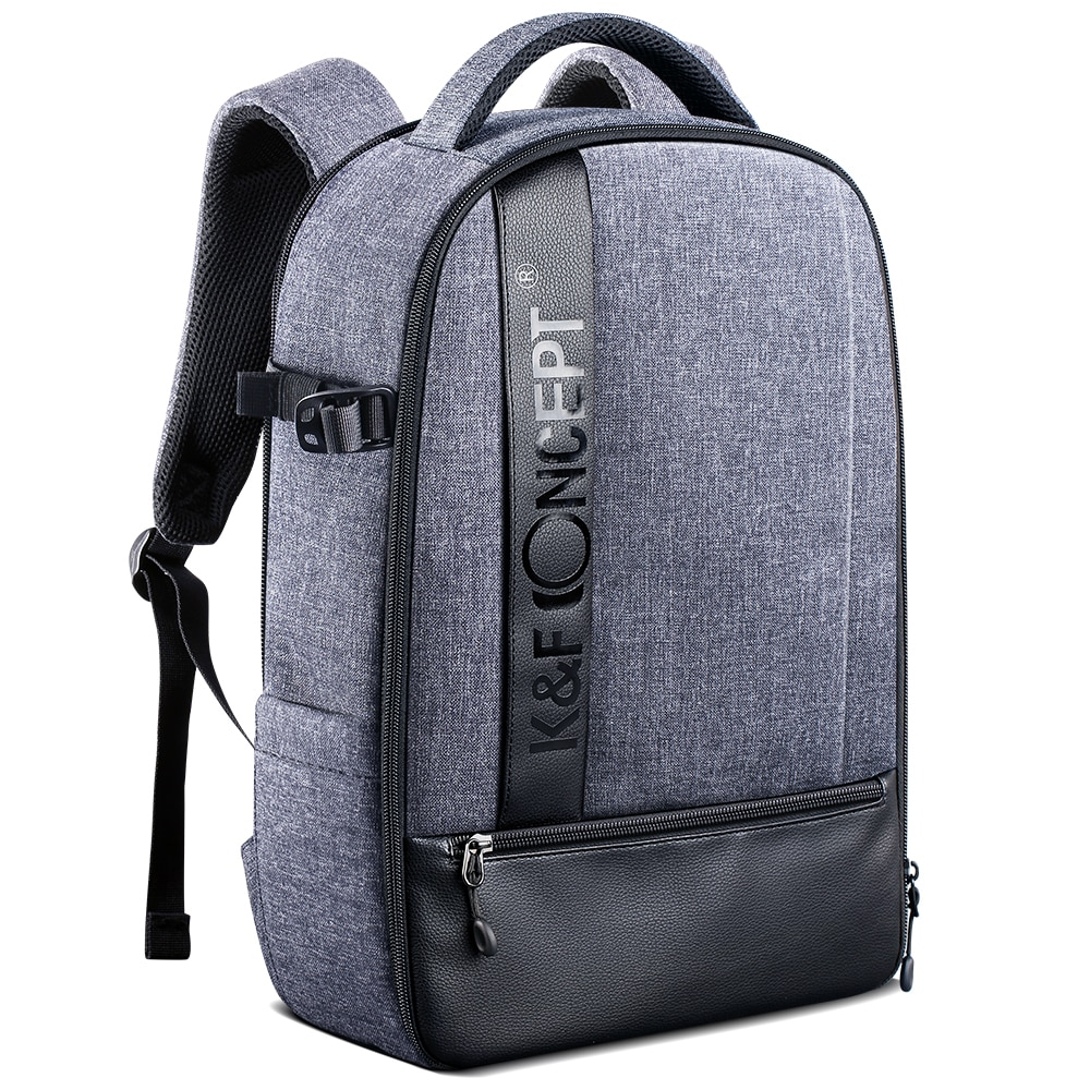"""K & f conceito profissional câmera mochila grande capacidade saco de fotografia à prova dslr água para câmeras dslr, 15 """"portátil, tripé, lentes"""