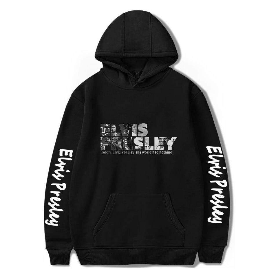 Mode Elvis Presley Hoodies Männer Frauen Sweatshirts Casual Herbst Hip Hop Mit Kapuze druck Elvis Presley Hoodies Herren schwarz pullover