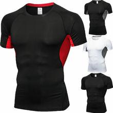 Offre spéciale été hommes T-shirts à manches courtes rapidement sec Gym vêtements entraînement serré course football tenue de basket-ball t-shirt