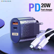Зарядное устройство USB Type C Pd для Iphone 12, 11 Pro Max Mini, 13 X, быстрая зарядка для Xiaomi, Huawei, Samsung, зарядное устройство QC3.0, 20 Вт