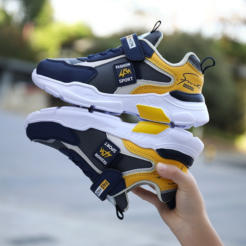 Boys Shoes Children Sneakers Sport Shoes Child Rubber Leisure Trainers Casual Kids Sneakers 2021 Brand Spring Summer Sport Shoes
