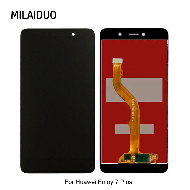 Para Huawei Enjoy 7 Plus TRT-LX2 pantalla LCD + MONTAJE DE digitalizador con pantalla táctil reemplazo sin marco calidad AAA 5,5