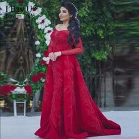 sexy beading mermaid evening dresses long red evening party dress women gown