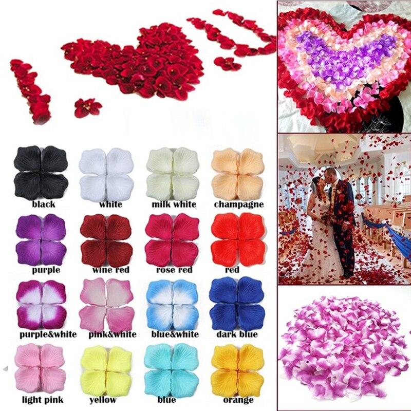 5000 unids/pack falso Rosa pétalos flor tirar seda pétalo Artificial pétalos para boda fiesta evento cumpleaños decoración creativa