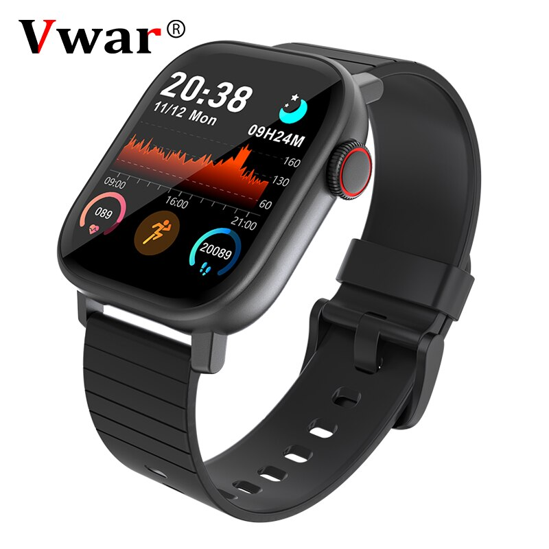 Vwar Smart Watch Men Full Touch Fitness Tracker Blood Pressure Smart Clock VS P8 T200 Women GTS Smartwatch for Xiaomi iphone