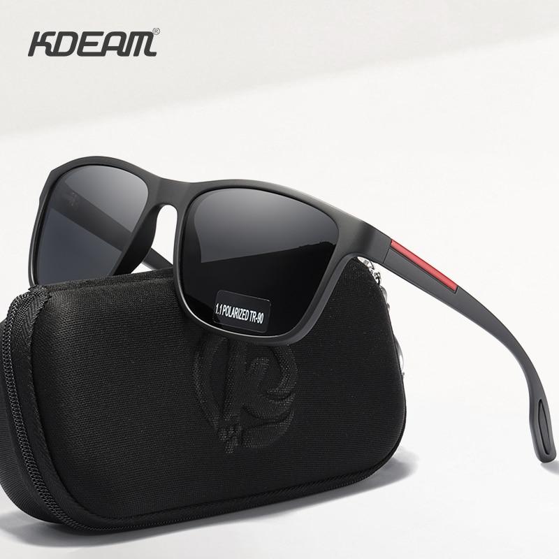 KDEAM Flexibility TR90 Men's Polarized Sunglasses Simplistic Design Sun Glasses with Polarising Ultr